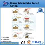 Vávula de bola de cobre amarillo con el extremo manual de calidad superior de la unión de la entrerrosca precio bajo de 3 pulgadas para la industria