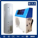 Le famille chaud 60deg sanitaire c de la vente Top10 sauvegardent le pouvoir Cop5.32 5kw, 7kw, geysers solaires hybrides fendus de 80% de pompe à chaleur d'air de 9kw Tankless 220V