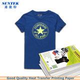 Papel de imprenta ligero oscuro de la transferencia de la prensa del calor de la camiseta del laser de la inyección de tinta