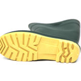 PVC Rain Boots (верхушка Blackish зеленая/Yellow Sole)