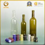 Frascos de vidro de tampão de parafuso do vinho vermelho 750ml de produto comestível (039)