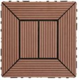 WPC DIY Decking Tile pour Outdoor Use avec du CE