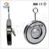 Одиночный тип одиночный задерживающий клапан Pn16 вафли двери качания плиты