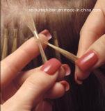 Queratina do cabelo humano de 100% eu derrubo a extensão do cabelo humano de Remy Brizilian
