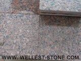 かえでの赤い花こう岩は床タイルの赤い壁のタイルの最もよい価格を炎にあてた