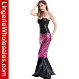 Costume Cosplay Mermaid Sequin женщин сексуальный для партии Halloween