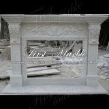 Binnen Marmeren Open haard mfp-477 van Carrara van het Graniet van de Steen Witte