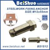 316 conexión de Boxbolt del tornillo de ancla del acero inoxidable M12 para la fachada de cristal