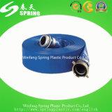 Положенный PVC плоский шланг разрядки воды шланга для сельскохозяйствення угодье земледелия