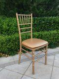 رخيصة خشبيّة نوع ذهب لون [تيفّني] عرس كرسي تثبيت مع مقعد كتل