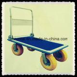 Caminhão de mão Foldable da plataforma das rodas do aço quatro