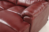 Sofa de salle de séjour avec le sofa moderne de cuir véritable réglé (455)