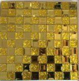 Mosaico del espejo del diamante del azulejo de mosaico del oro (HD069)