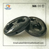 Anello di trazione marino di Kenter verniciato il nero per le catene d'ancoraggio