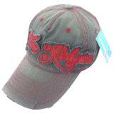 Gorra de béisbol lavada venta caliente con la insignia delantera Gjwd1720