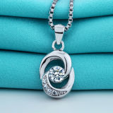 Collana elegante del pendente dell'argento sterlina di disegno di temperamento delle signore