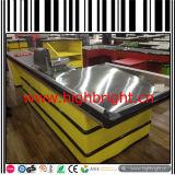 Tabela do contador do caixa da alta qualidade do aço inoxidável para a alameda de compra