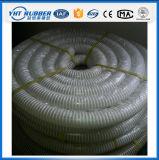 明確なワイヤー螺旋形によって補強される屈曲のホースまたは吸塵のホース
