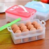 Doos van de Houder van de Eieren van het Dek van de keuken behandelde de Dubbele de Automaat van het Ei met Handvat voor het 24-ei van de Ijskast Capaciteit