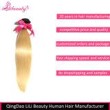 Gruppi non trattati dei capelli diritti dei capelli umani di 100% per le donne bianche