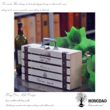 Случай хранения вина Hongdao изготовленный на заказ деревянный с клетью Wholesale_L