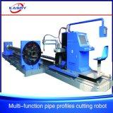 Máquina de estaca retangular do plasma do CNC da câmara de ar/cortador quadrado redondo do aço de Channe da tubulação
