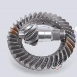 Pignon conique en acier de précision en métal fait sur commande de bâti