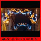 Luz al aire libre impermeable de la decoración de los horizontes de la Navidad del adorno LED de la calle