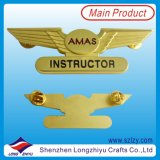 Qualität Custom Metal Gold Wing Lapel Pin Badge mit Soft Enamel (LZY-1000078)