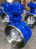 A216 Wcb Pn25 Dn350 Butt Welded Butterfly Valve
