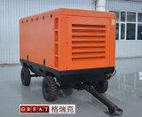 Motore diesel che guida compressore d'aria portatile della vite rotativa il mini