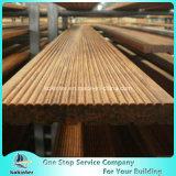 Sitio de bambú pesado tejido hilo al aire libre de bambú 5 del chalet del suelo del Decking