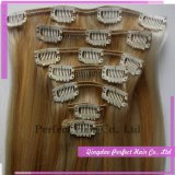 100% Cheveux vierges Extension Clip Indian Hair Weave