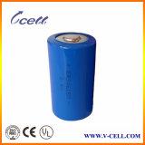 voltaje nominal y tipo reemplazo de la batería de 3.6V Lisocl2 de la batería del litio Er34615 del tamaño 19ah 3.6V de D ah