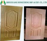 Piel de la puerta de la chapa MDF/HDF de la teca/de la ceniza de Sapele