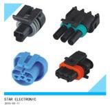 Connecteurs des véhicules à moteur électriques en plastique de harnais de câblage de Pin de la borne 3 de l'usine 2 de la Chine