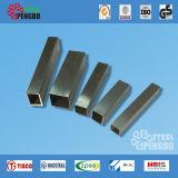 Tipo cuadrado corto tubos del acero inoxidable