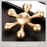 Inovador Anti Stress Toy Six-Arm King Kong Pure-Copper Finger Gyro