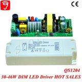 fonte de alimentação isolada Dimmable do diodo emissor de luz de 30-46W 0-10V com Ce QS1204