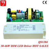 электропитание 30-46W 0-10V Dimmable СИД с Ce QS1204