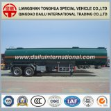 de petróleo 47cbm del tanque de carbón del acero del petróleo/de la gasolina del petrolero acoplado del carro semi