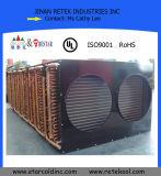 Évaporateur en aluminium d'ailette de tube de cuivre de réfrigération