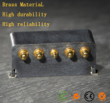 Pogo充満金張りの銅のPinのバネ付きステンレス鋼