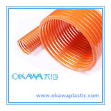 PVC de la Chine Factory Suction Hose avec Orange Helix