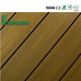 Decking extérieur en bois en plastique du composé WPC des prix bon marché imperméables à l'eau