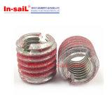 Screwlocking внешняя гайка вставки резьбы прорезанная для алюминиевого светлого сплава