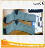 chaussettes de chauffage de batterie rechargeable de 3.7V 2200mAh avec la batterie rechargeable de lion