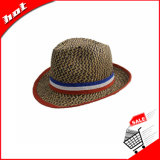 Chapéu do Fedora do chapéu de Sun do chapéu de palha do chapéu de palha da cavidade do chapéu de palha da arremetida