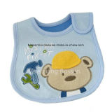 Bib младенца хлопка конструкции OEM подгонянный продукцией вышитый Applique