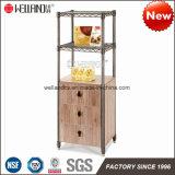Cremalheira Aço-De madeira da mobília do armazenamento da cozinha Home moderna da patente